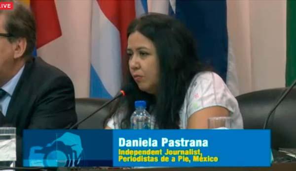 Intervención de Daniela Pastrana durante la Conferencia: Fin a la impunidad de los crímenes contra periodistas en la CorteIDH