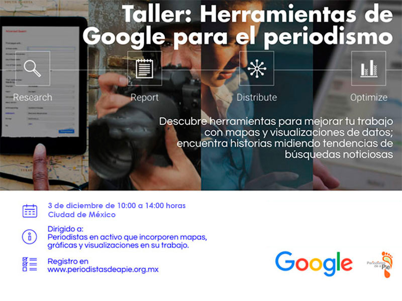Taller de visualización de datos y nuevas herramientas de Google para periodistas