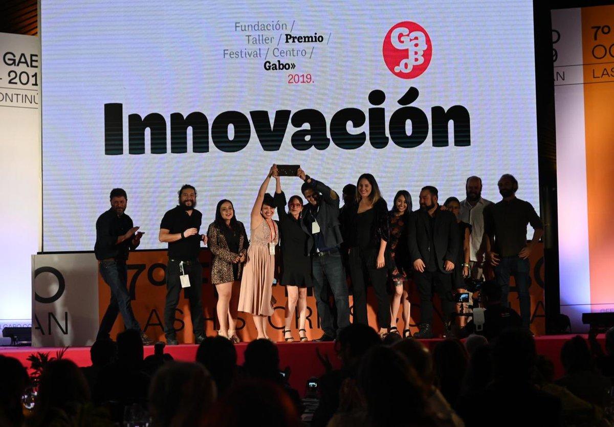 Discurso de los ganadores del Premio Gabo 2019 en la categoría Innovación