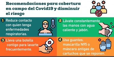 Recomendaciones para la cobertura en campo del Covid-19 y disminuir el riesgo